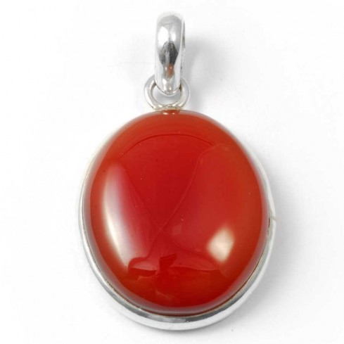 Beautiful Oval Cabochon Stone Pendant - Silver Jewellery  - Boutique Nirvana