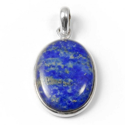 Beautiful Oval Cabochon Stone Pendant - Silver Jewellery  - Boutique Nirvana
