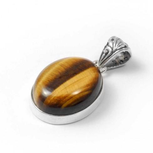 Pendentif pierre et argent avec bélière ouvragée - BIJOUX ARGENT - Boutique Nirvana