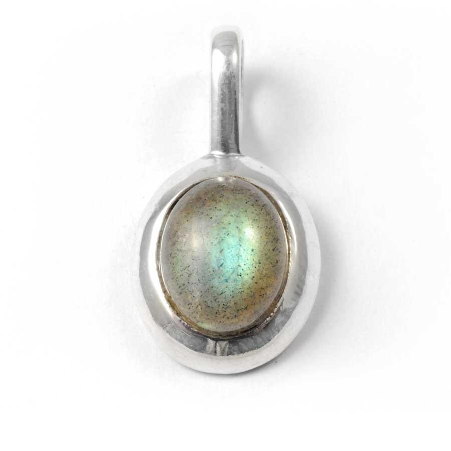 Curved Silver Pendant - SILVER PENDANT - Boutique Nirvana