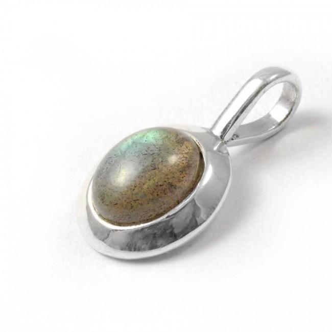 Pendentif pierre et argent avec contour épais - PENDENTIFS ARGENT - Boutique Nirvana