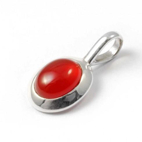 petit bijoux Argent pierre rouge