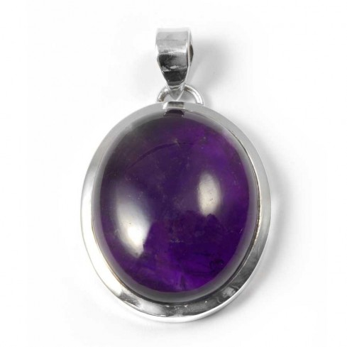 Large Oval Cabochon Pendant - Silver Jewellery  - Boutique Nirvana