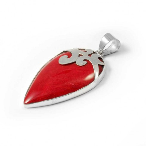 Pointed Sterling Silver Gemstone Pendant - Silver Jewellery  - Boutique Nirvana