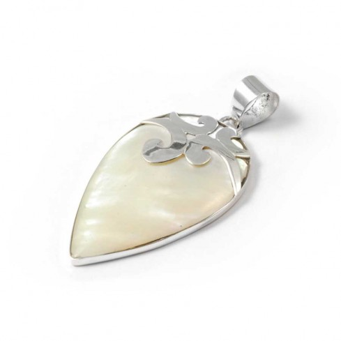 Pointed Sterling Silver Gemstone Pendant - SAINTE LUCIE - Boutique Nirvana