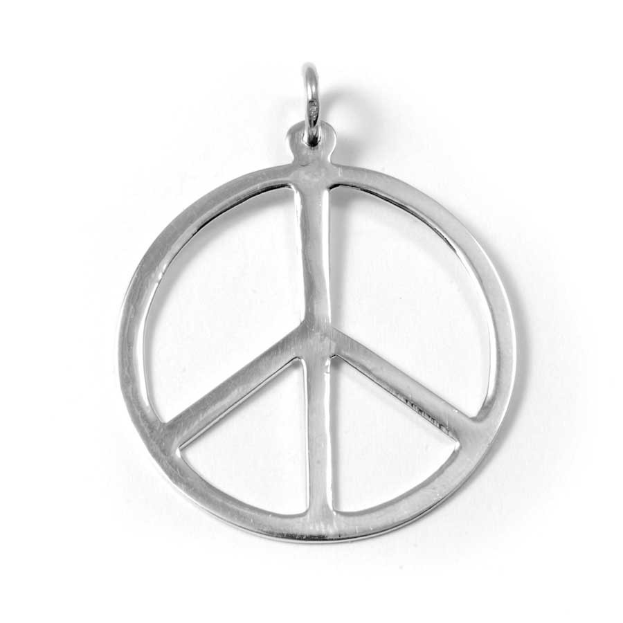 Pendentif argent Peace and Love boutique nirvana