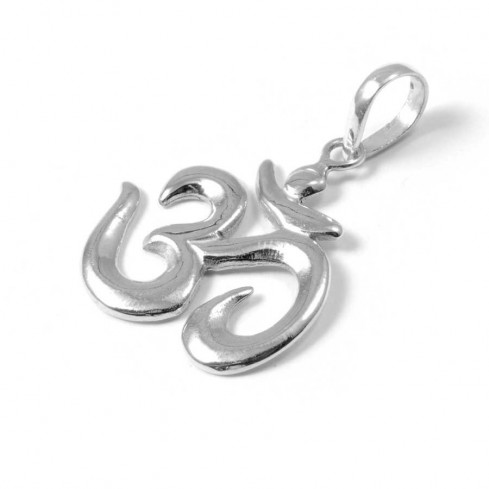 Silver Om Pendant - Silver Jewellery  - Boutique Nirvana