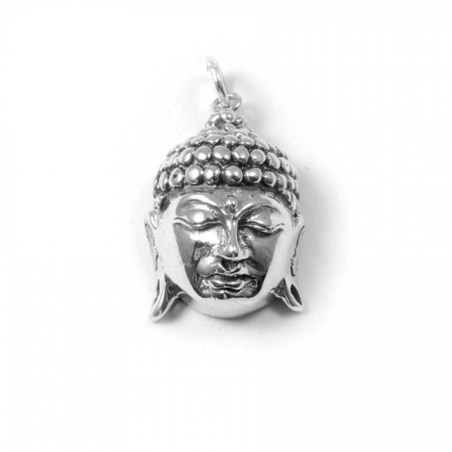 Pendentif argent tête de Bouddha - BIJOUX ARGENT - Boutique Nirvana