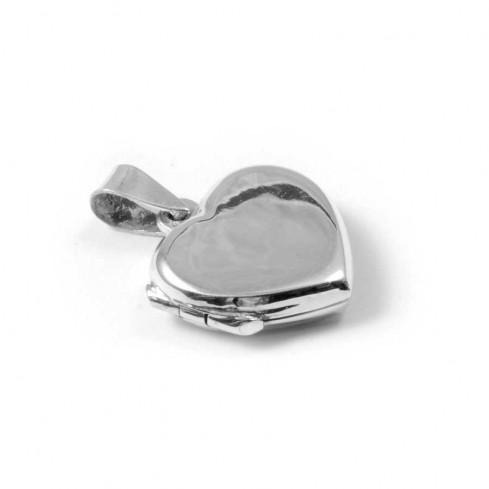 Pendentif Boîte Coeur en Argent