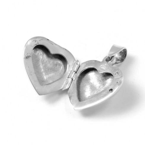 Silver Heart Locket - Silver Jewellery  - Boutique Nirvana