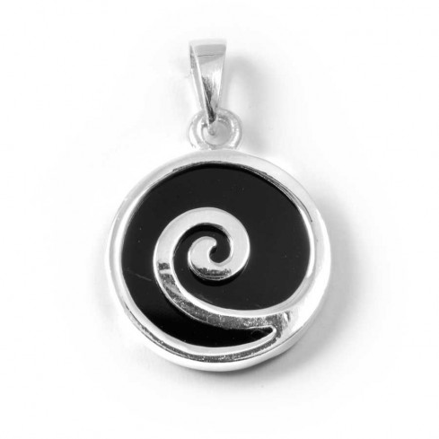 Spiral Pendant with Natural Stone - SAINTE LUCIE - Boutique Nirvana