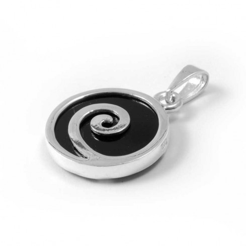 Spiral Pendant with Natural Stone - Silver Jewellery  - Boutique Nirvana