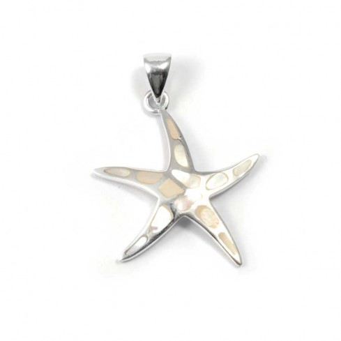 Starfish Pendant with Natural Stone - Silver Jewellery  - Boutique Nirvana