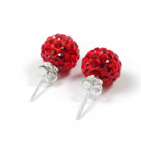 strass Rouge argent