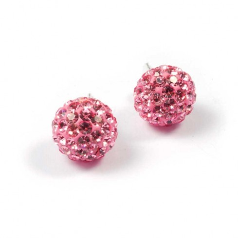 argent strass Rose Clair