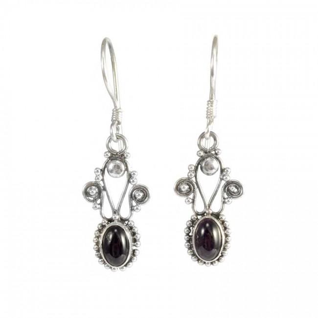 Vintage Natural Stone Drop Earrings - SILVER EARRINGS - Boutique Nirvana