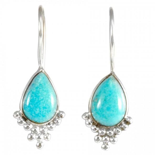 Boucles d'oreilles argent dormeuses avec pierre - BOUCLES ARGENT - Boutique Nirvana