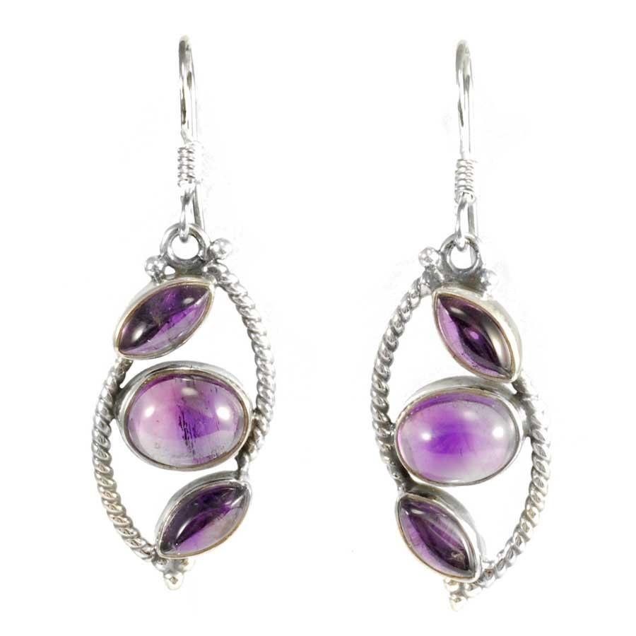 Unique Lozenge Earrings - Mineral Gemstones - Boutique Nirvana