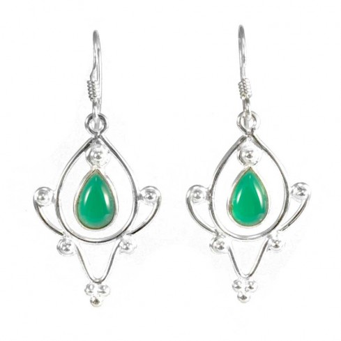 Silver Taj Mahal Earrings - SILVER EARRINGS - Boutique Nirvana