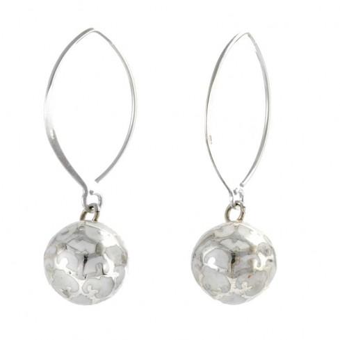 Boucles d'oreilles argent avec bola col de cygne - SILVER EARRINGS - Boutique Nirvana