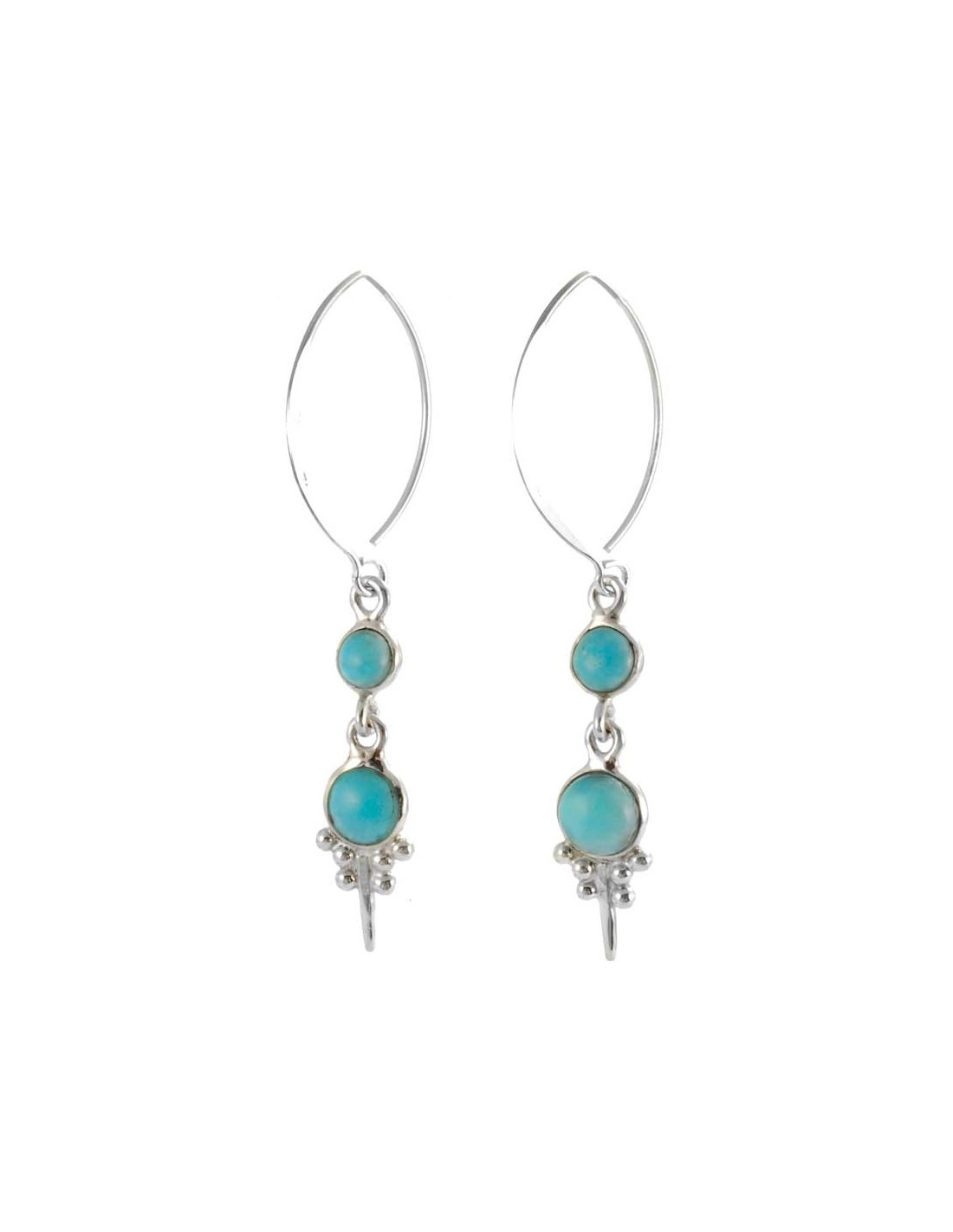 Boucles d 39 oreilles argent col de cygne et pierres boutique nirvana - Fermoir boucle d oreille argent ...