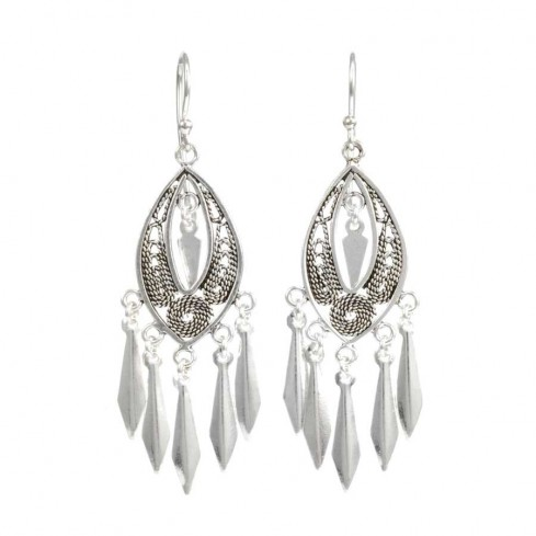 Bohemian Sterling Silver Tassel Earring Range - SILVER EARRINGS - Boutique Nirvana