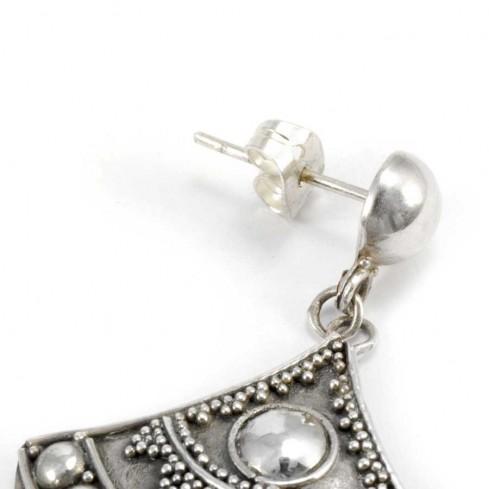 Boucles d'oreilles en argent balinaises - BOUCLES ARGENT - Boutique Nirvana