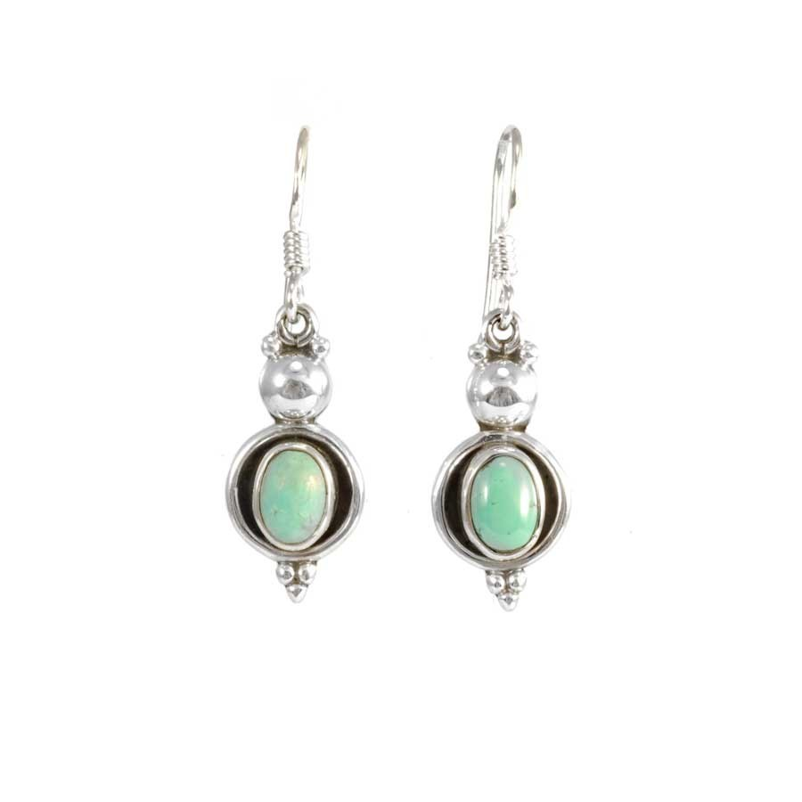 Elegant Sterling Silver and Natural Stone Earrings - SILVER EARRINGS - Boutique Nirvana