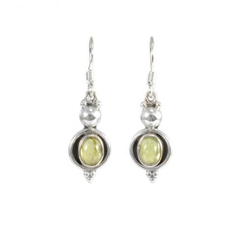 Boucles d'oreilles pierre contour d'argent - BOUCLES ARGENT - Boutique Nirvana
