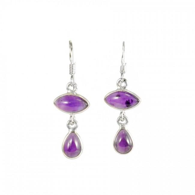 Indian Handcrafted Gemstone Earrings - SILVER EARRINGS - Boutique Nirvana