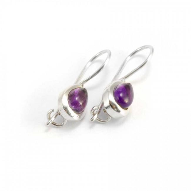 Classic Teardrop Stone Earrings - SILVER EARRINGS - Boutique Nirvana