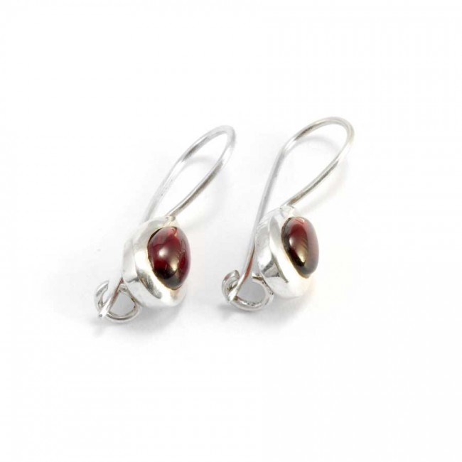Classic Teardrop Stone Earrings - SILVER EARRINGS - Boutique Nirvana