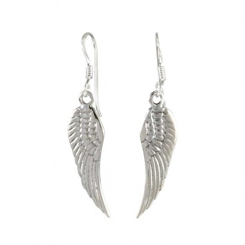 Small Silver Peace Earrings - SILVER EARRINGS - Boutique Nirvana