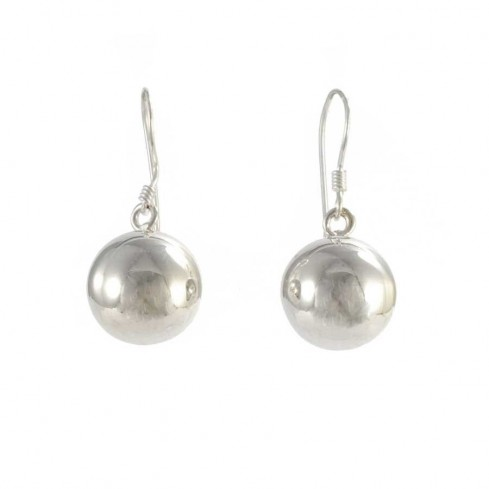 Sterling Silver Ball Drop Earrings - SILVER EARRINGS - Boutique Nirvana
