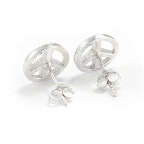 Boucles d'oreilles argent peace and love