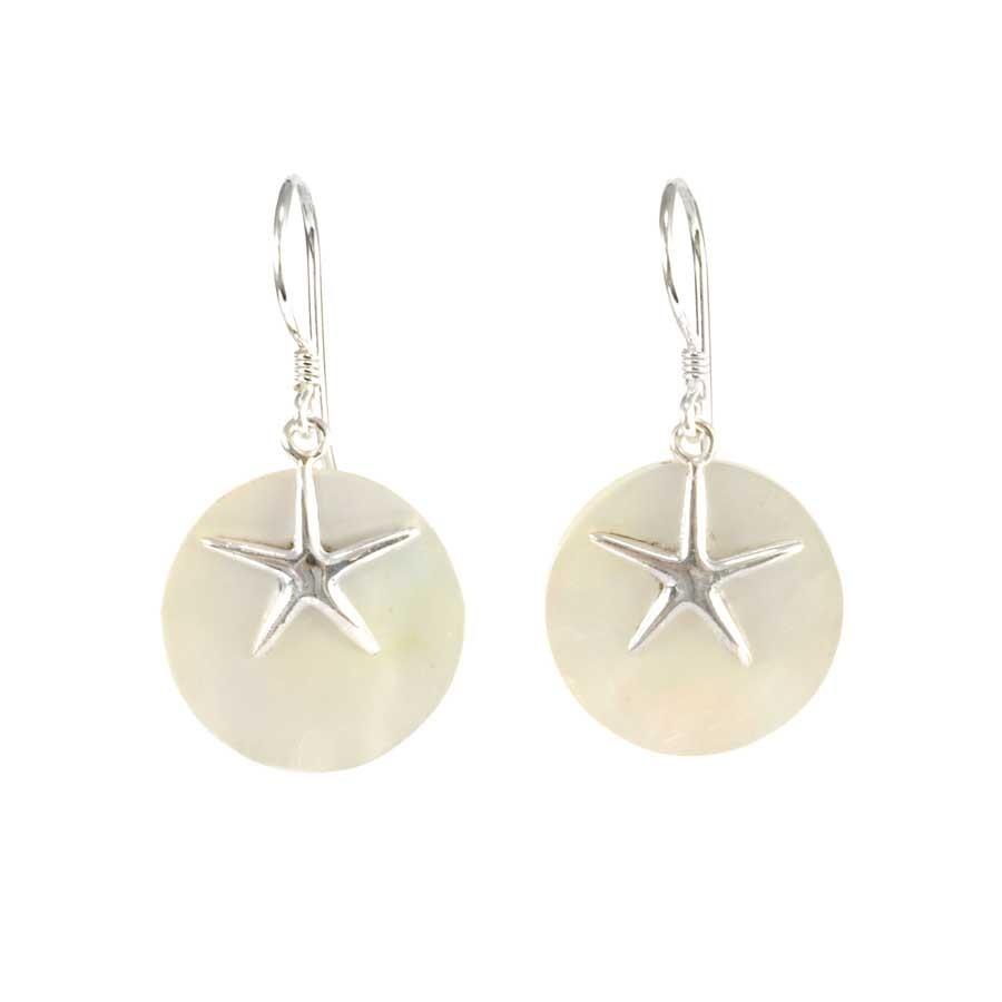 Boucles d oreilles en argent rondes avec étoile de mer - Boutique ... aaa75cccaf51
