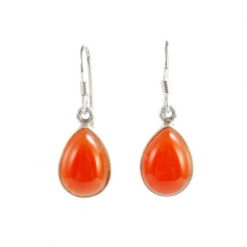 Colourful Natural Stone Drop Earrings - SILVER EARRINGS - Boutique Nirvana