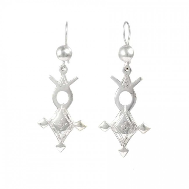 Sterling Silver Tuareg Cross Earring Range - SILVER EARRINGS - Boutique Nirvana