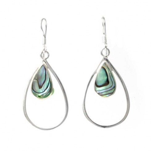 Fair Trade Silver and Natural Stone Earrings - SILVER EARRINGS - Boutique Nirvana