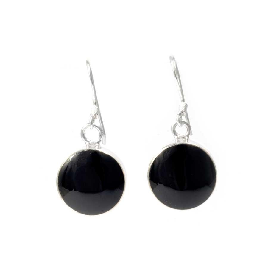 Boucles d'oreilles argent pierre ronde - BOUCLES ARGENT - Boutique Nirvana