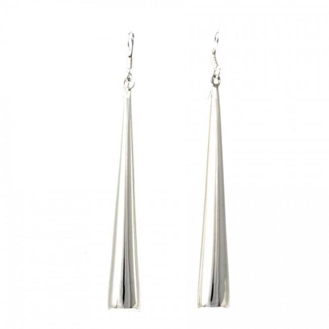 Boucles d'oreilles en argent cones lisses - BOUCLES ARGENT - Boutique Nirvana