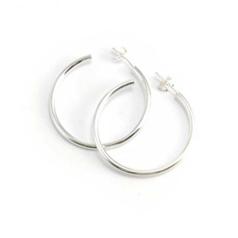 Créoles en argent I - Silver Jewellery  - Boutique Nirvana