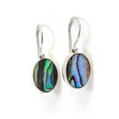 Beautiful Indonesian Stone Drop Earrings - SILVER EARRINGS - Boutique Nirvana