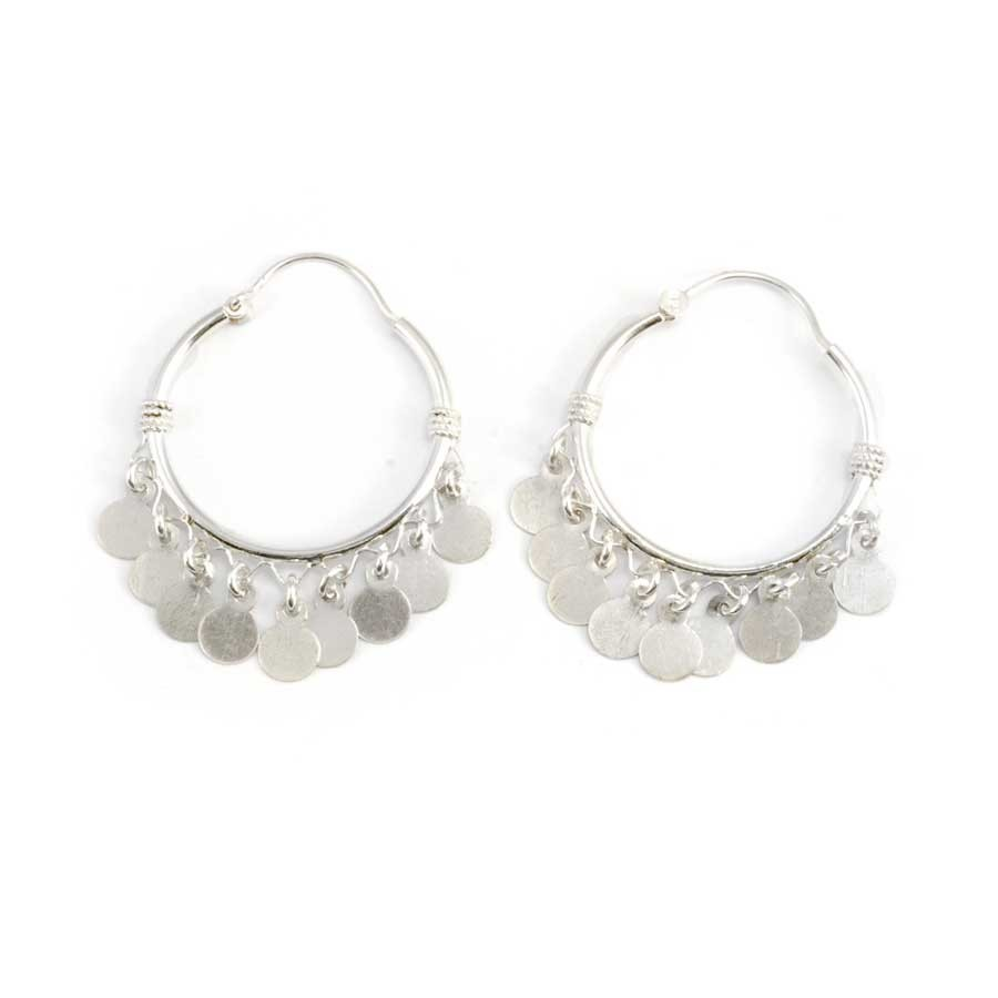 Medium Bohemian Silver Hoops - Silver Jewellery  - Boutique Nirvana