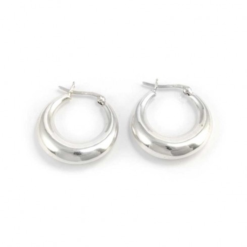 Small Silver Creole Hoop Earrings - Silver Jewellery  - Boutique Nirvana