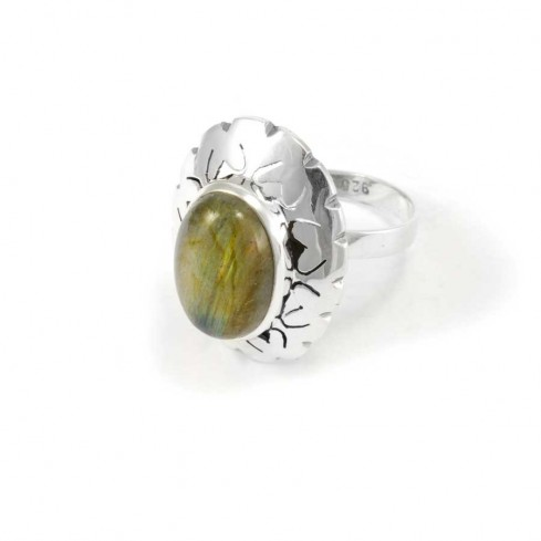 Indonesian Silver and Gemstone Adjustable Ring - Silver Rings - Boutique Nirvana
