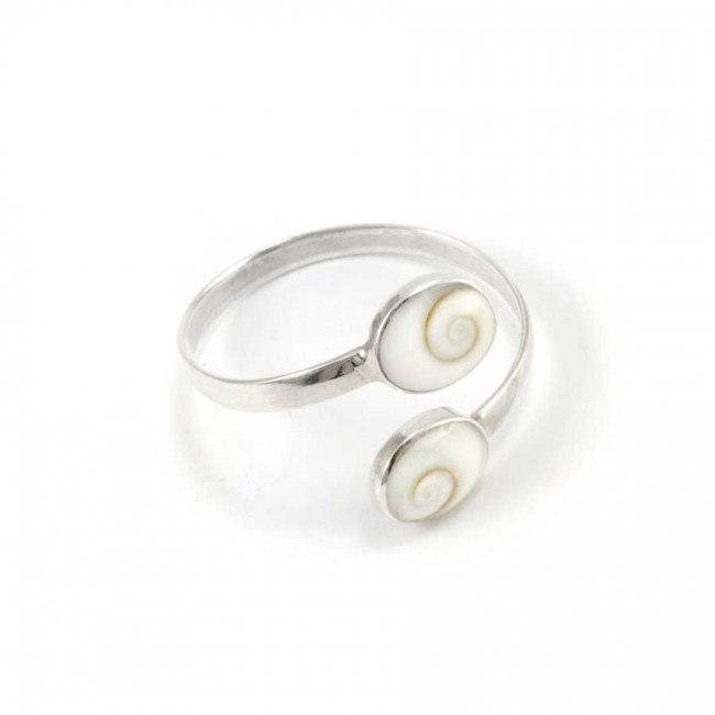 Eye of St Lucia Adjustable Ring - Silver Rings - Boutique Nirvana