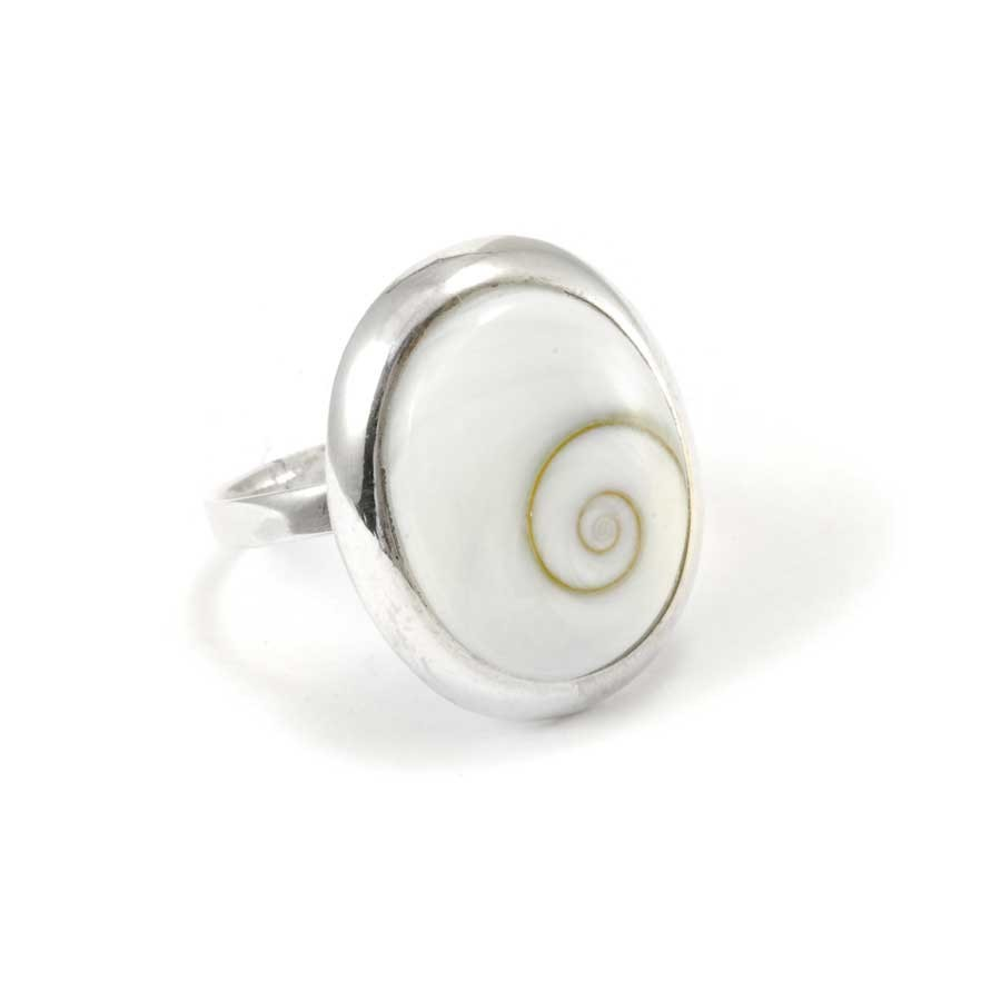 Eye of St Lucia Shell Silver Ring
