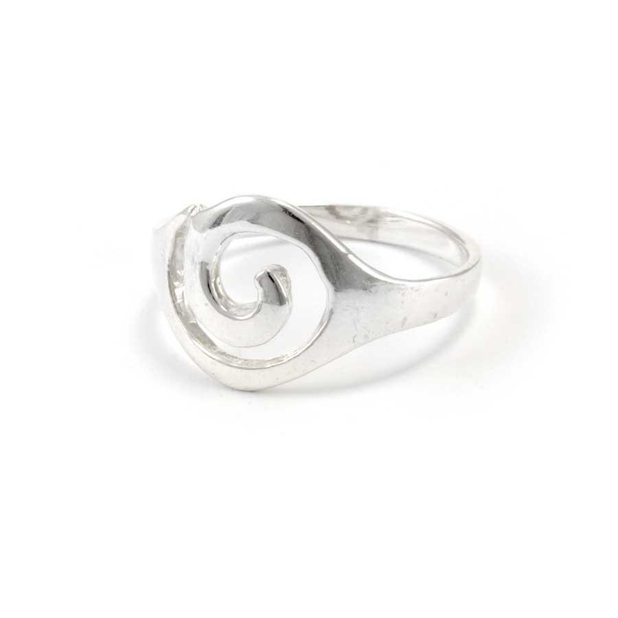 Bohemian Silver Spiral Ring - Silver Rings - Boutique Nirvana