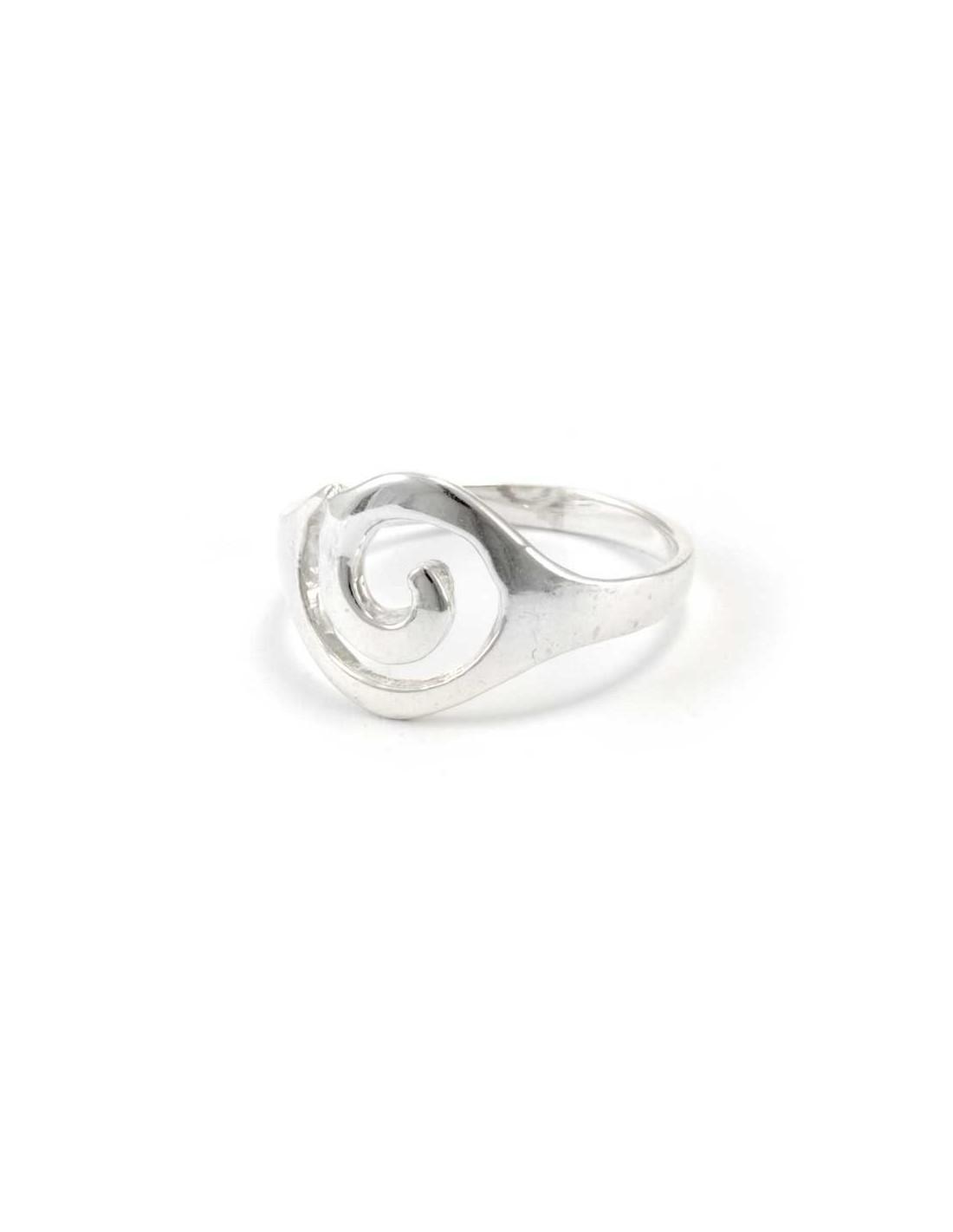 bohemian silver spiral ring boutique nirvana